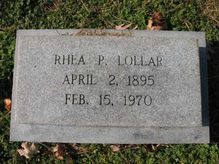 LOLLAR, RHEA P - Cross County, Arkansas | RHEA P LOLLAR - Arkansas Gravestone Photos