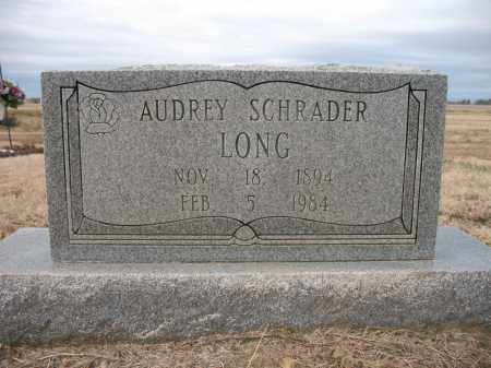 SCHRADER LONG, AUDREY - Cross County, Arkansas | AUDREY SCHRADER LONG - Arkansas Gravestone Photos