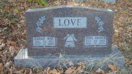 LOVE, JOHN ARTHUR - Cross County, Arkansas | JOHN ARTHUR LOVE - Arkansas Gravestone Photos