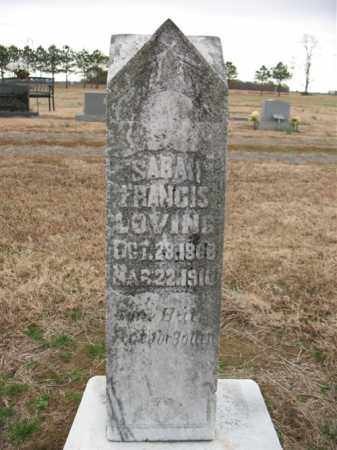 LOVING, SARAH FRANCIS - Cross County, Arkansas | SARAH FRANCIS LOVING - Arkansas Gravestone Photos