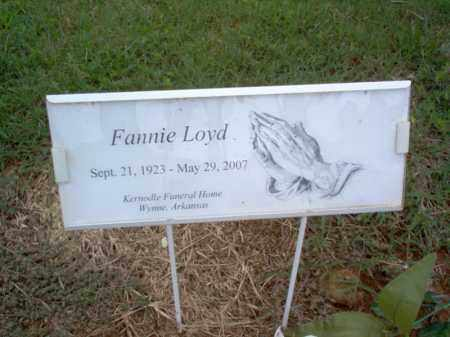 LOYD, FANNIE - Cross County, Arkansas | FANNIE LOYD - Arkansas Gravestone Photos