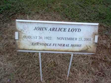 LOYD, JOHN ARLIS - Cross County, Arkansas | JOHN ARLIS LOYD - Arkansas Gravestone Photos