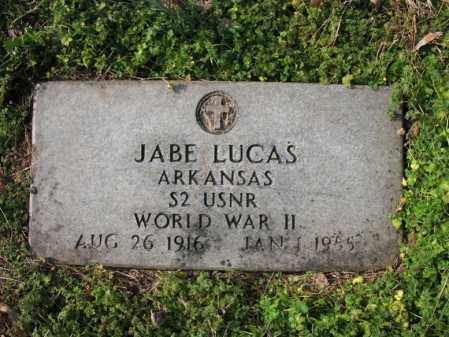 LUCAS (VETERAN WWII), JABE - Cross County, Arkansas | JABE LUCAS (VETERAN WWII) - Arkansas Gravestone Photos