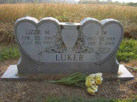 LUKER, LIZZIE M - Cross County, Arkansas | LIZZIE M LUKER - Arkansas Gravestone Photos