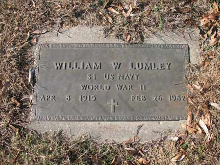 LUMLEY (VETERAN WWII), WILLIAM W - Cross County, Arkansas | WILLIAM W LUMLEY (VETERAN WWII) - Arkansas Gravestone Photos