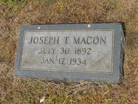 MACON, JOSEPH T - Cross County, Arkansas | JOSEPH T MACON - Arkansas Gravestone Photos