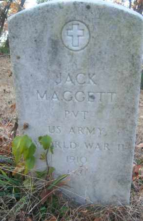MAGGETT (VETERAN WWII), JACK - Cross County, Arkansas | JACK MAGGETT (VETERAN WWII) - Arkansas Gravestone Photos