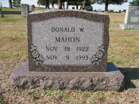 MAHON, DONALD W - Cross County, Arkansas | DONALD W MAHON - Arkansas Gravestone Photos