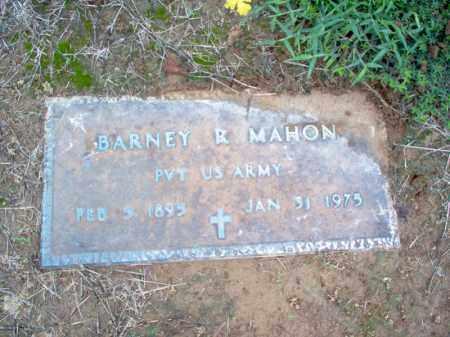 MAHON (VETERAN), BARNEY R - Cross County, Arkansas | BARNEY R MAHON (VETERAN) - Arkansas Gravestone Photos