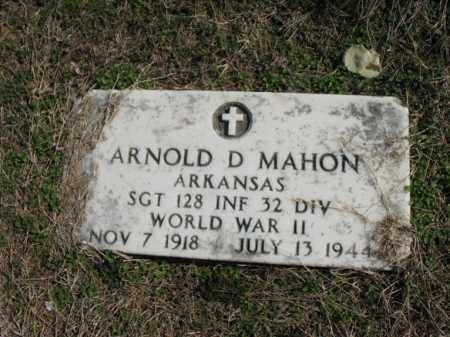 MAHON (VETERAN WWII), ARNOLD D - Cross County, Arkansas | ARNOLD D MAHON (VETERAN WWII) - Arkansas Gravestone Photos