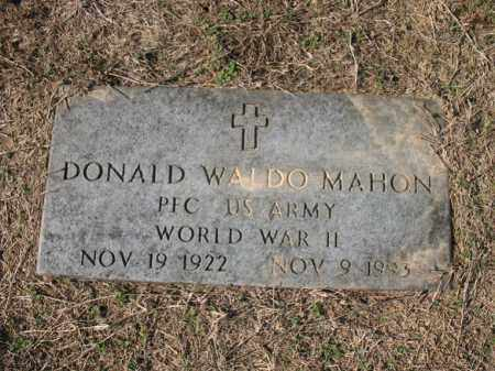 MAHON (VETERAN WWII), DONALD WALDO - Cross County, Arkansas | DONALD WALDO MAHON (VETERAN WWII) - Arkansas Gravestone Photos
