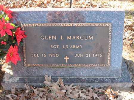 MARCUM (VETERAN), GLEN L - Cross County, Arkansas | GLEN L MARCUM (VETERAN) - Arkansas Gravestone Photos
