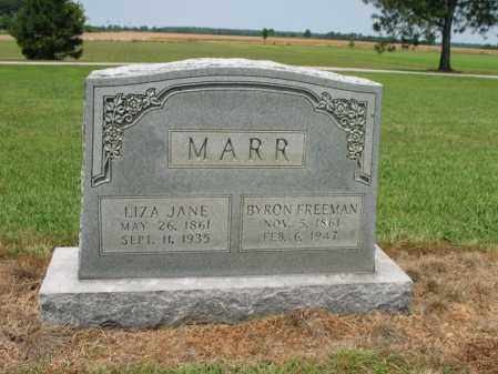 MARR, LIZA JANE - Cross County, Arkansas | LIZA JANE MARR - Arkansas Gravestone Photos