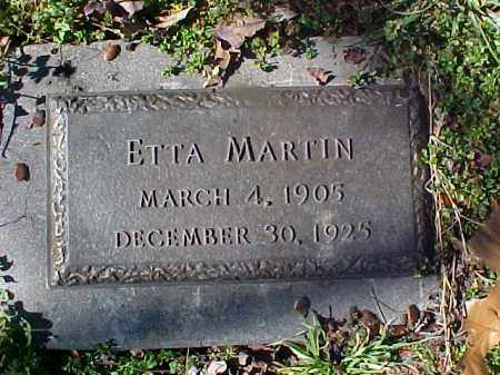 MARTIN, ETTA - Cross County, Arkansas | ETTA MARTIN - Arkansas Gravestone Photos