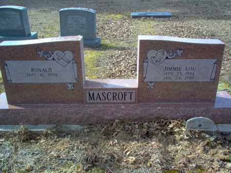 MASCROFT, JIMMIE LOU - Cross County, Arkansas | JIMMIE LOU MASCROFT - Arkansas Gravestone Photos