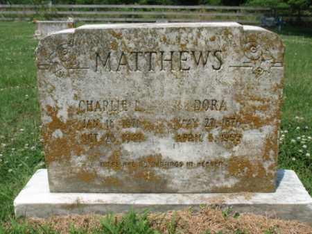 MATTHEWS, CHARLIE L - Cross County, Arkansas | CHARLIE L MATTHEWS - Arkansas Gravestone Photos