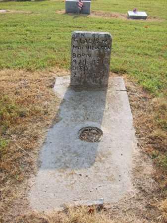 MATTHEWSON, GLADIS M - Cross County, Arkansas | GLADIS M MATTHEWSON - Arkansas Gravestone Photos