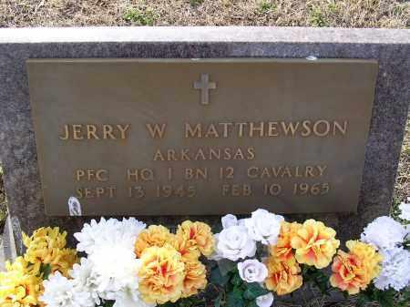 MATTHEWSON  (VETERAN), JERRY W - Cross County, Arkansas | JERRY W MATTHEWSON  (VETERAN) - Arkansas Gravestone Photos