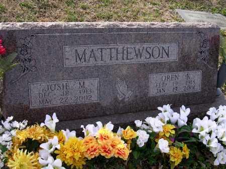 MATTHEWSON, OREN K - Cross County, Arkansas | OREN K MATTHEWSON - Arkansas Gravestone Photos