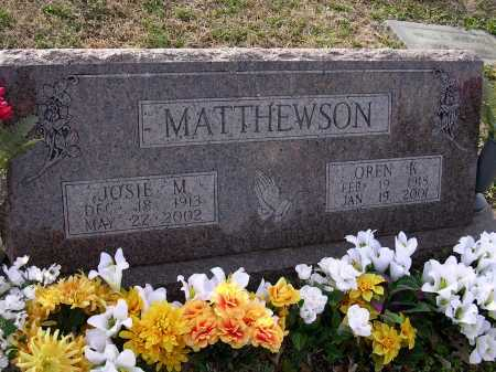 MATTHEWSON, JOSIE M - Cross County, Arkansas | JOSIE M MATTHEWSON - Arkansas Gravestone Photos