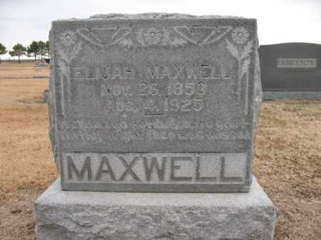 MAXWELL, ELIJAH - Cross County, Arkansas | ELIJAH MAXWELL - Arkansas Gravestone Photos