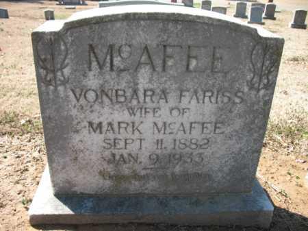 MCAFEE, VONBARA - Cross County, Arkansas | VONBARA MCAFEE - Arkansas Gravestone Photos