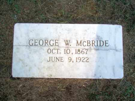 MCBRIDE, GEORGE W - Cross County, Arkansas | GEORGE W MCBRIDE - Arkansas Gravestone Photos