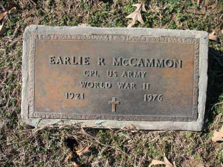 MCCAMMON (VETERAN WWII), EARLIE R - Cross County, Arkansas | EARLIE R MCCAMMON (VETERAN WWII) - Arkansas Gravestone Photos