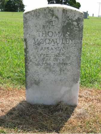 MCCAULEY (VETERAN), THOMAS - Cross County, Arkansas | THOMAS MCCAULEY (VETERAN) - Arkansas Gravestone Photos