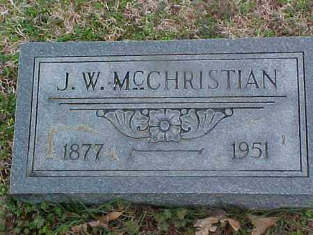 MCCHRISTIAN, J W - Cross County, Arkansas | J W MCCHRISTIAN - Arkansas Gravestone Photos