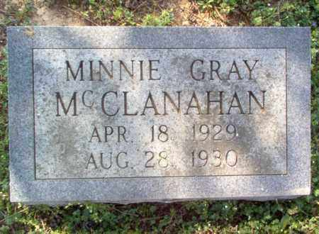 MCCLANAHAN, MINNIE GRAY - Cross County, Arkansas | MINNIE GRAY MCCLANAHAN - Arkansas Gravestone Photos