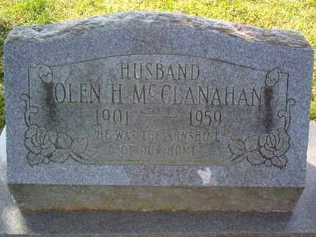 MCCLANAHAN, OLEN H - Cross County, Arkansas | OLEN H MCCLANAHAN - Arkansas Gravestone Photos