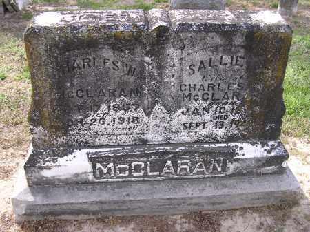 MCCLARAN, CHARLES W - Cross County, Arkansas | CHARLES W MCCLARAN - Arkansas Gravestone Photos