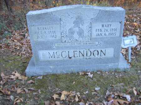 MCCLENDON, BURKLEY - Cross County, Arkansas | BURKLEY MCCLENDON - Arkansas Gravestone Photos