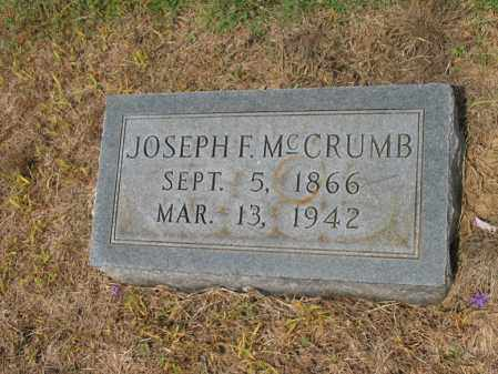MCCRUMB, JOESPH F - Cross County, Arkansas | JOESPH F MCCRUMB - Arkansas Gravestone Photos