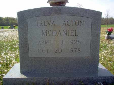 ACTON MCDANIEL, TREVA - Cross County, Arkansas | TREVA ACTON MCDANIEL - Arkansas Gravestone Photos