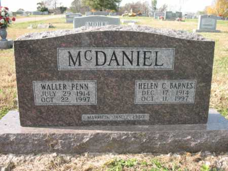 BARNES MCDANIEL, HELEN C - Cross County, Arkansas | HELEN C BARNES MCDANIEL - Arkansas Gravestone Photos