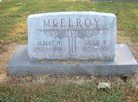 MCELROY, ALBERT H - Cross County, Arkansas | ALBERT H MCELROY - Arkansas Gravestone Photos