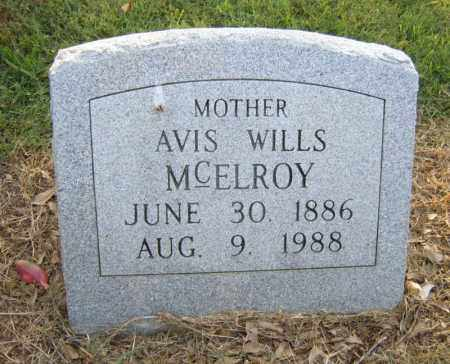 WILLS MCELROY, AVIS - Cross County, Arkansas | AVIS WILLS MCELROY - Arkansas Gravestone Photos