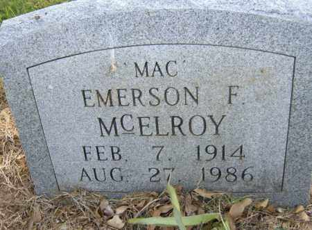 "MCELROY, EMERSON F ""MAC"" - Cross County, Arkansas | EMERSON F ""MAC"" MCELROY - Arkansas Gravestone Photos"