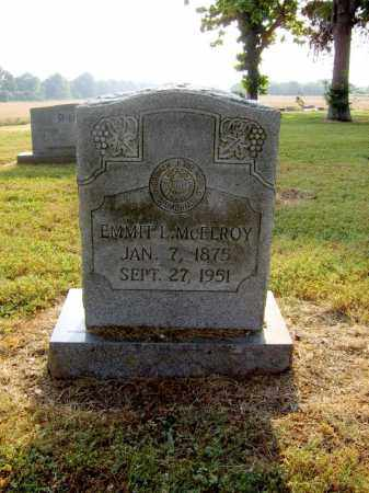 MCELROY, EMMIT L - Cross County, Arkansas | EMMIT L MCELROY - Arkansas Gravestone Photos