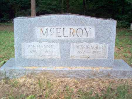 MCELROY, JOE HANNIE - Cross County, Arkansas | JOE HANNIE MCELROY - Arkansas Gravestone Photos