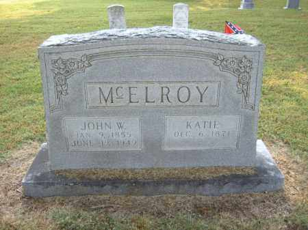 MCELROY, JOHN W - Cross County, Arkansas | JOHN W MCELROY - Arkansas Gravestone Photos