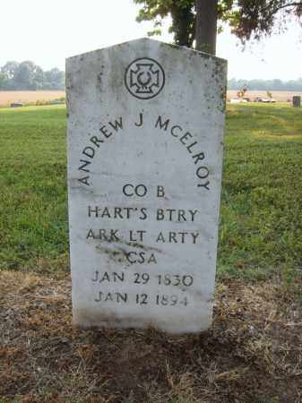 MCELROY (VETERAN CSA), ANDREW J - Cross County, Arkansas | ANDREW J MCELROY (VETERAN CSA) - Arkansas Gravestone Photos