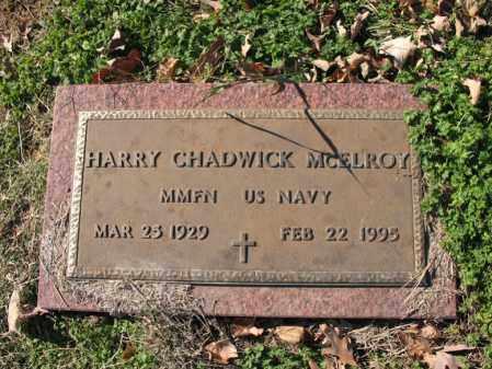 MCELROY (VETERAN), HARRY CHADWICK - Cross County, Arkansas | HARRY CHADWICK MCELROY (VETERAN) - Arkansas Gravestone Photos