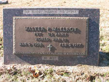 MCELROY (VETERAN WWII), WALTER P - Cross County, Arkansas | WALTER P MCELROY (VETERAN WWII) - Arkansas Gravestone Photos