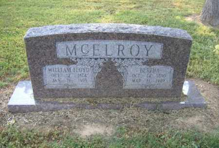 MCELROY, WILLIAM FLOYD - Cross County, Arkansas | WILLIAM FLOYD MCELROY - Arkansas Gravestone Photos