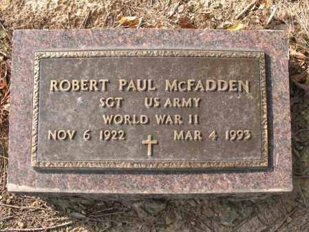 "MCFADDEN (VETERAN WWII), ROBERT PAUL  ""PETE"" - Cross County, Arkansas | ROBERT PAUL  ""PETE"" MCFADDEN (VETERAN WWII) - Arkansas Gravestone Photos"