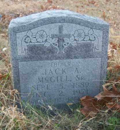MCGILL, SR, JACK A - Cross County, Arkansas | JACK A MCGILL, SR - Arkansas Gravestone Photos