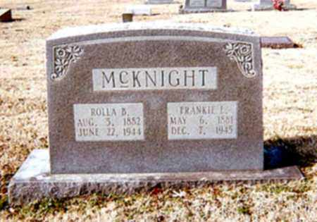 MCKNIGHT, ROLLA B - Cross County, Arkansas | ROLLA B MCKNIGHT - Arkansas Gravestone Photos